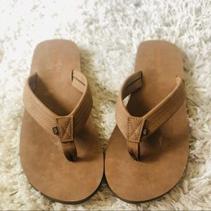 Mens cobain brown leather sandals 10